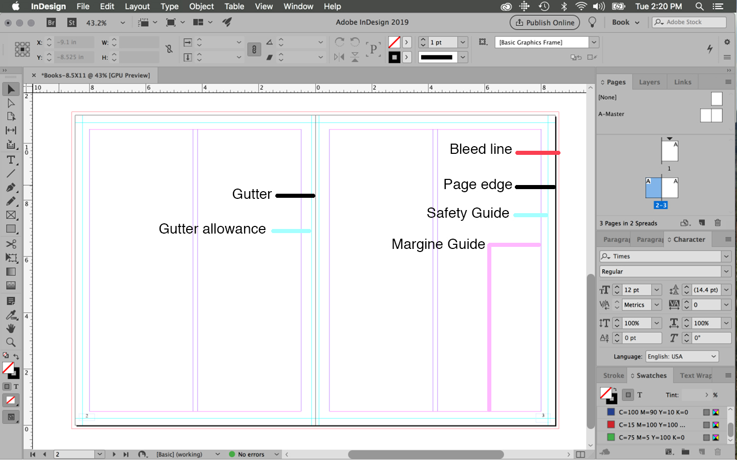 Preparing Your Book For Print With Indesign Onebookshelf Publisher Service